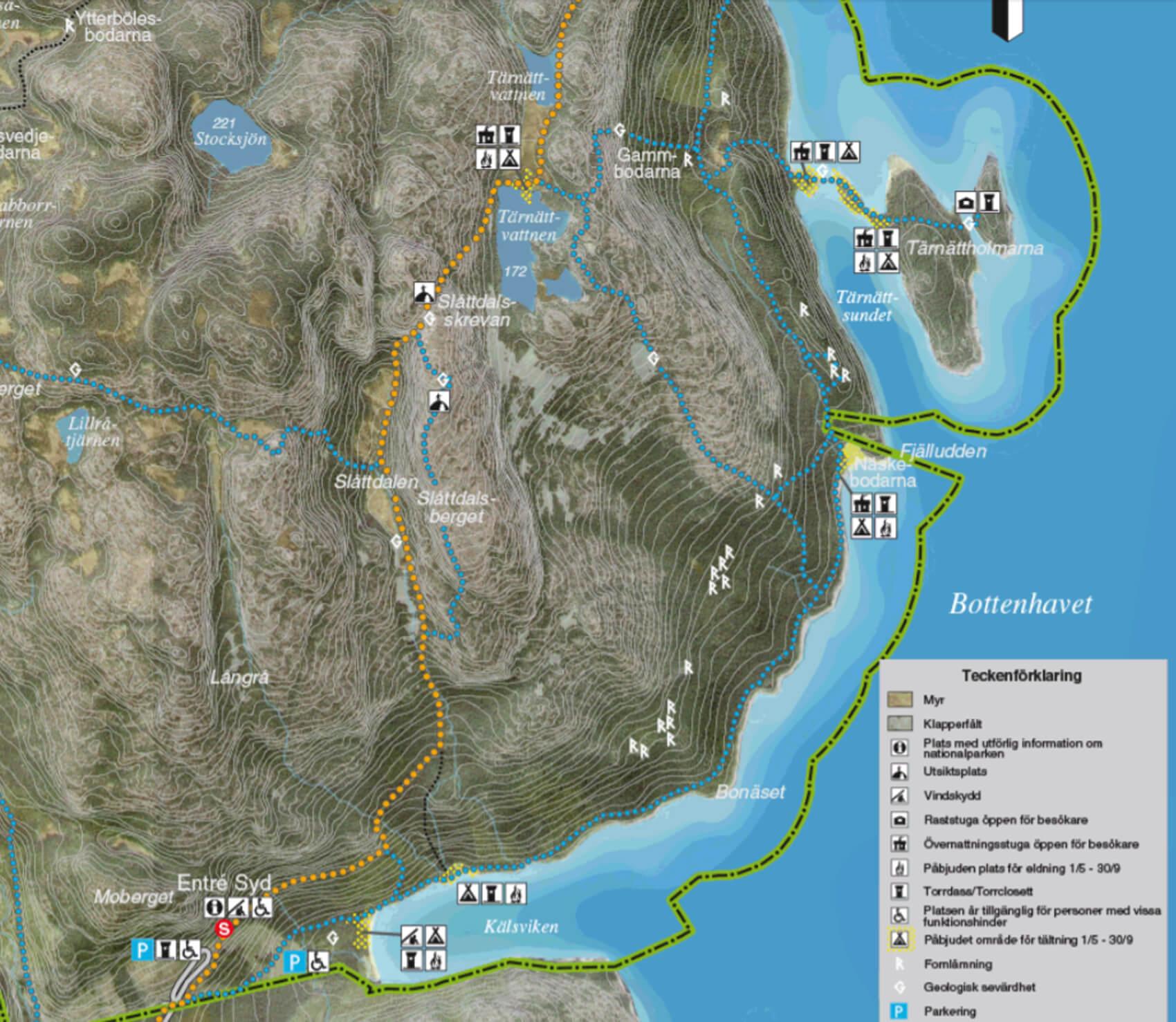 karta skuleskogen Vandra Slåttdalsskrevan | Friluftsbyn karta skuleskogen