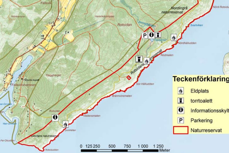 rotsidan karta Utflykt i Nordingrå   Friluftsbyn rotsidan karta